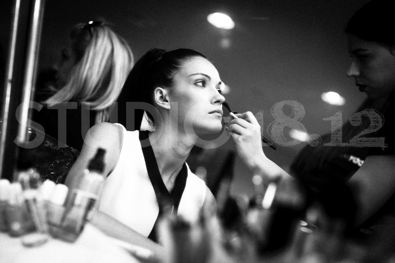 Mikaela Mika getting ready for Ellen S. & Fashion Erotokritos show